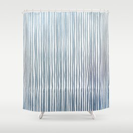 Coming up metallic stripes Shower Curtain