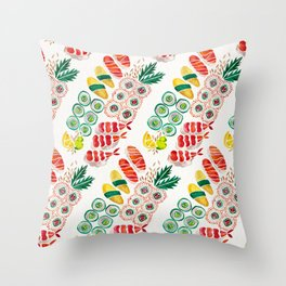 Sushi Collection Throw Pillow