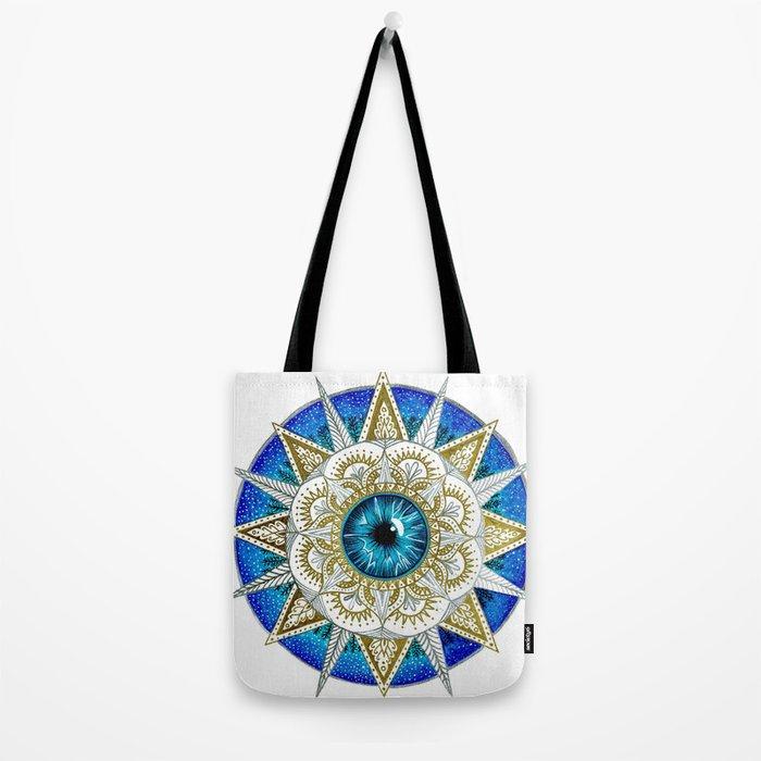 Eye Mandala Tote Bag