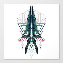 Space Ship sacred geometry Canvas Print