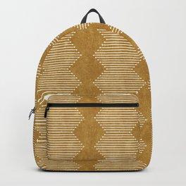 mudcloth diamonds - mustard Backpack