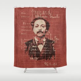 ROGUES GALLERY / 1894 Criminology - Bertillonage 004 Shower Curtain