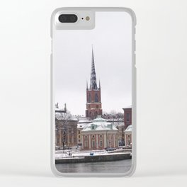 Stockholm Winter Clear iPhone Case