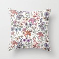 Magical Floral  Throw Pillow