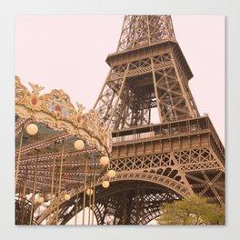 le Carrousel de la Tour Eiffel Canvas Print