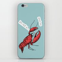 lobster iPhone & iPod Skins featuring lobster by mark ashkenazi