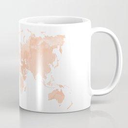 World Map Peach Coffee Mug