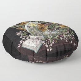 Atlantic Seaside Still Life Floor Pillow