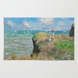 1882-Claude Monet-Cliff Walk at Pourville-66 x 82 Rug