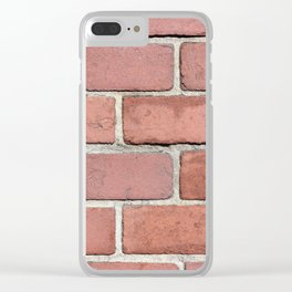 Colonial Brick Sidewalk Texture Clear iPhone Case