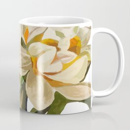 Double Narcissi Spring Flower Bouquet Coffee Mug