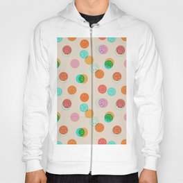 Smiley Face Stamp Print Hoody