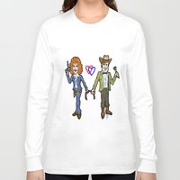river song Long Sleeve T-shirts featuring River Song and The Doctor...  A Valentines Card through Time!  Doctor Who Cartoon by beetoons