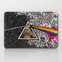 dark side of the moon iPad Cases featuring Dark Side of the Moon by Luciana Pupo