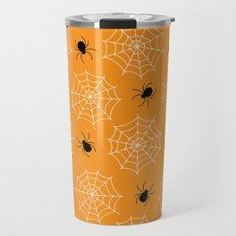 Halloween Spider Web Seamless Pattern Travel Mug