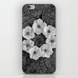 Flower circle iPhone Skin