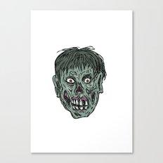 Zombie Skull Head Drawing Canvas Print