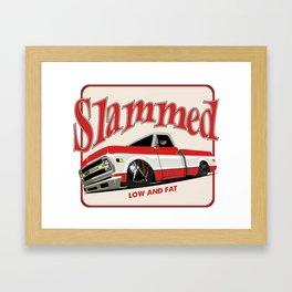 truck slammed Framed Art Print
