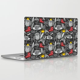 White on black. Laptop & iPad Skin