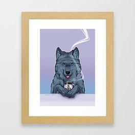 Tea Wolf Framed Art Print