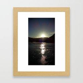 (#134) Burning Afternoon Sun Framed Art Print