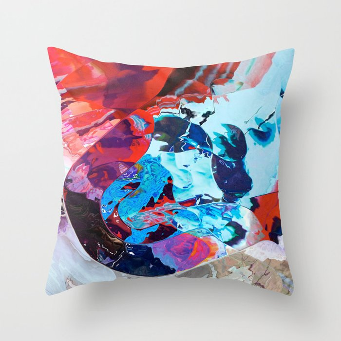 Divine teardrop Throw Pillow