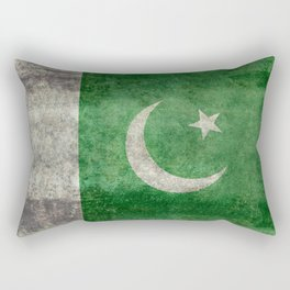 Flag of Pakistan in vintage style Rectangular Pillow