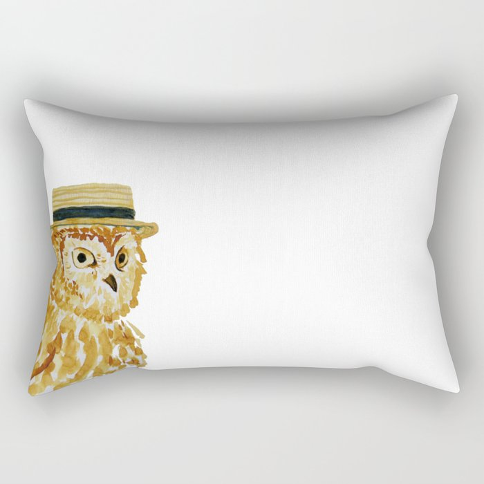 Dapper Owl or Owl Capone? Rectangular Pillow