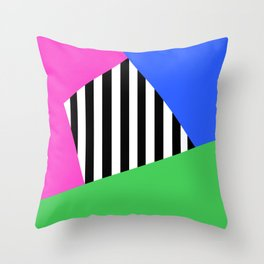 Bright Stripe Sectors Throw Pillow