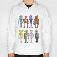 robots Hoodies featuring Robots by Annabelle Scott