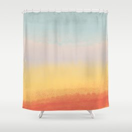 Ceramic Sunset // Multi Color Speckled Drip Summer Beach California Surf Vibes Wall Hanging Design Shower Curtain