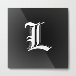 Letter L Metal Print