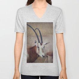 Scimitar oryx Unisex V-Neck