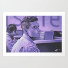 Purple Paranoia Art Print