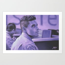 Purple Paranoia Art Print