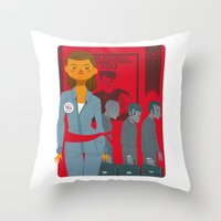 1984 Throw Pillows featuring 1984 by Cristian Barbeito