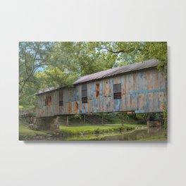 Kymulga Historic Covered Bridge Childersburg Alabama Metal Print
