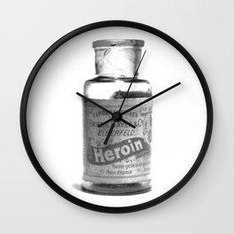 Vintage Heroin Medicine Bottle Wall Clock