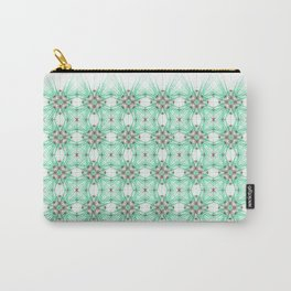 Kat Scratch Starburst Pattern • Mint & Taupe Carry-All Pouch