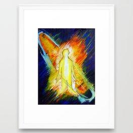 Caught in worship Framed Art Print
