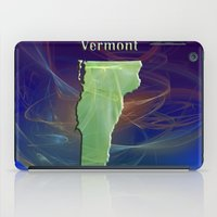 vermont iPad Cases featuring Vermont Map by Roger Wedegis