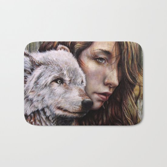 The Girl and the Wolf Bath Mat