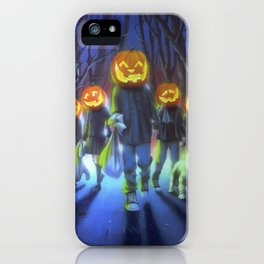 Attack of the Jack-O-Lanterns iPhone Case