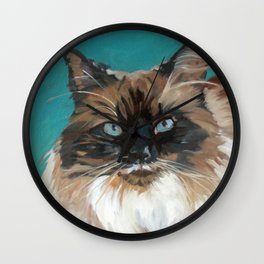 Tipper the Cat Portrait Wall Clock