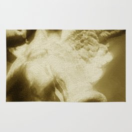 Fallen Angel Vertical Gold Rug