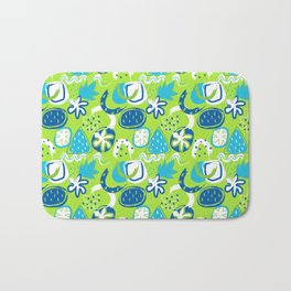 Brushstroke Abstracts - blue and green Bath Mat