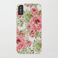 craftberrybush iPhone & iPod Cases featuring watercolor bouquet  by craftberrybush
