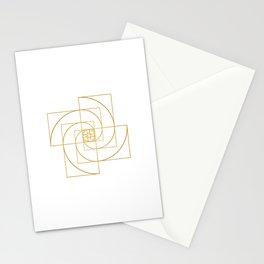 Golden Pinwheel Stationery Cards