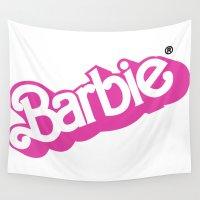 barbie Wall Tapestries featuring Barbie Girl by RickyRicardo787