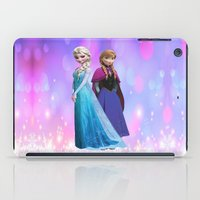 duvet cover iPad Cases featuring Frozen anna elsa duvet cover by customgift